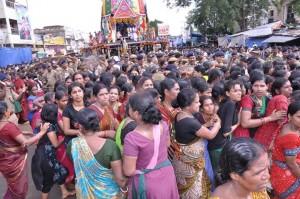 Women, pulling the Chariot of Devi Subhadra