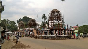 Making phase of the 3 Chariots of the 3 deities